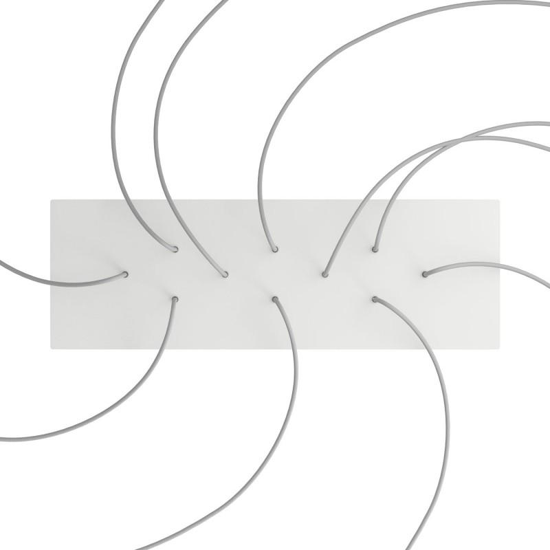 Obdĺžniková XXL stropná rozeta s desiatimi otvormi Rose-One s rozmermi 675 x 225 mm