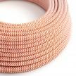 Okrúhly textilný elektrický kábel, umelý hodváb, CikCak, RZ15 Oranžová