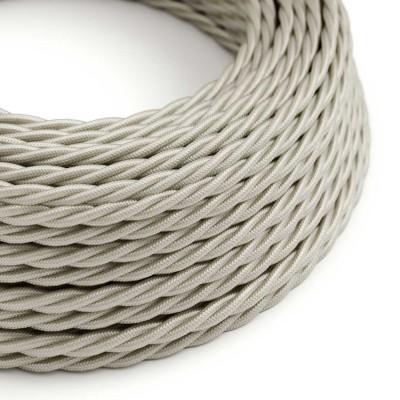 Stočený textilný elektrický kábel, umelý hodváb, jednofarebný, TM00 Slonovinová