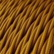 Stočený textilný elektrický kábel, umelý hodváb, jednofarebný, TM05 Zlatá