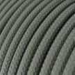 Okrúhly textilný elektrický kábel, umelý hodváb, jednofarebný, RM03 Šedá