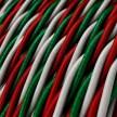 """Stočený textilný elektrický kábel, umelý hodváb, trojfarebný, """"Taliansko"""""""