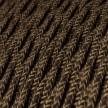 Stočený textilný elektrický kábel, ľan, prírodná hnedá farba TN04