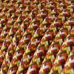 Okrúhly textilný elektrický kábel, umelý hodváb, pixelovaný, RX01 Pixel oranžová