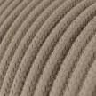 Okrúhly textilný elektrický kábel, bavlna, jednofarebný, RC43 Holubica