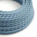 Stočený textilný elektrický kábel, bavlna, jednofarebný, TC53 Oceán