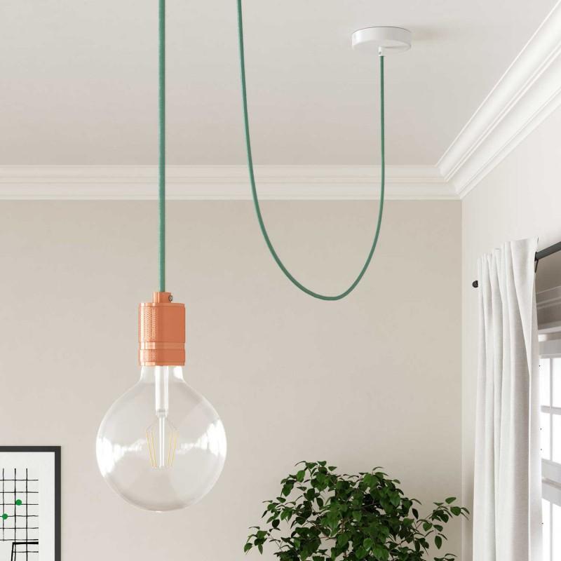 Okrúhly textilný elektrický kábel, bavlna, jednofarebný, RC34 Mliečno mätová