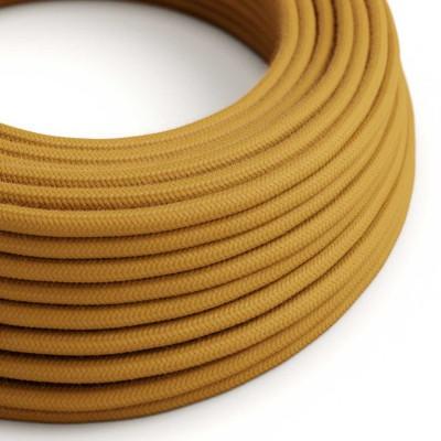 Okrúhly textilný elektrický kábel, bavlna, jednofarebný, RC31 Medovo zlatá