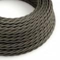 Stočený textilný elektrický kábel, umelý hodváb, jednofarebný, TM26 Tmavo šedá