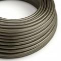 Okrúhly textilný elektrický kábel, umelý hodváb, jednofarebný, RM26 Tmavo šedá