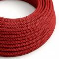 Okrúhly textilný elektrický kábel, hodváb, farba čert RT94
