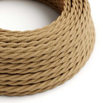 Stočený textilný elektrický kábel, jutový, TN06