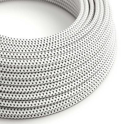 Okrúhly textilný elektrický kábel, umelý hodváb, 3D efekt, RT14 Stracciatella