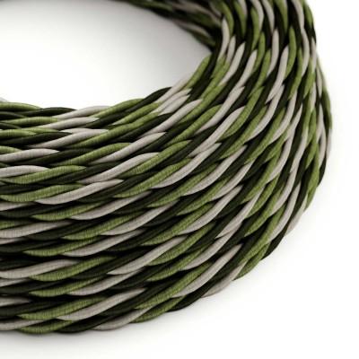 Stočený textilný elektrický kábel, umelý hodváb, Cambridge TG02