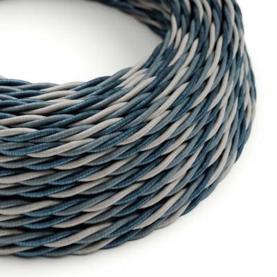Stočený textilný elektrický kábel, umelý hodváb, Bernadotte TG08