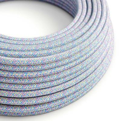 Okrúhly textilný elektrický kábel, bavlna, RX09 Lollipop