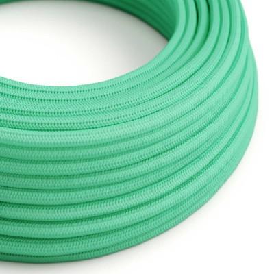 Okrúhly textilný elektrický kábel, umelý hodváb, jednofarebný, RH69 Opál