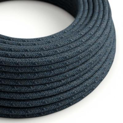 Okrúhly textilný elektrický kábel potiahnutý bavlnou - Blue Mirage RX10