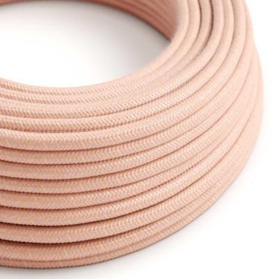Okrúhly textilný elektrický kábel potiahnutý bavlnou - Lososový RX13