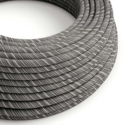 Textilný elektrický kábel opletený bavlnou Vertigo ERC37 - čierna Mélange