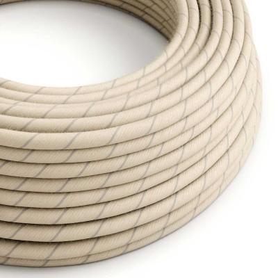 Textilný elektrický kábel pruhovaný, opletený bavlnou a ľanom Vertigo ERD23 - obilná
