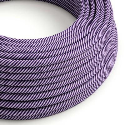 Textilný elektrický HD kábel pruhovaný Vertigo ERM52 - fialová a tmavo fialová