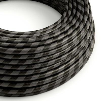 Textilný elektrický HD kábel so širokými pruhmi Vertigo ERM54 - čierna a grafit