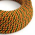 Textilný elektrický HD kábel pruhovaný Vertigo ERM59 Bruxelles - čierna, žltá, červená