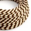 Textilný elektrický HD kábel pruhovaný Vertigo ERM61 Mr Brown - odtiene hnedej farby