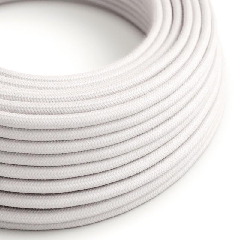 Okrúhly textilný elektrický kábel, bavlna, RC16 svetlo ružový