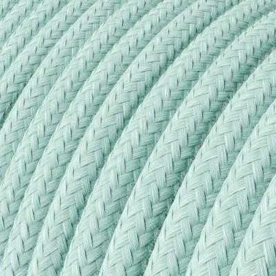 Okrúhly textilný elektrický kábel, bavlna, RC18 zelený Celadon