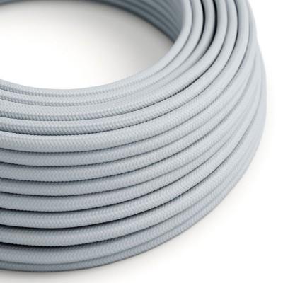 Okrúhly textilný elektrický kábel, umelý hodváb, RM30 svetlý modro-šedý