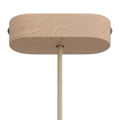 Oválna drevená stropná rozeta v zostave