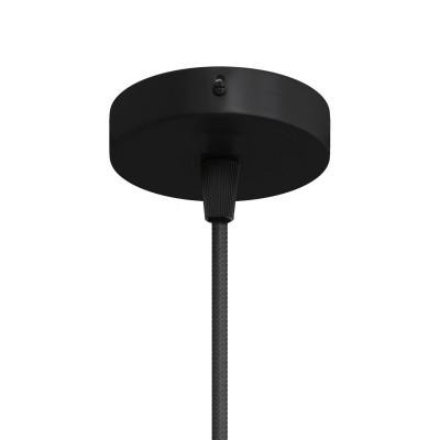 Malá valcová kovová stropná rozeta s 1 stredovým otvorom