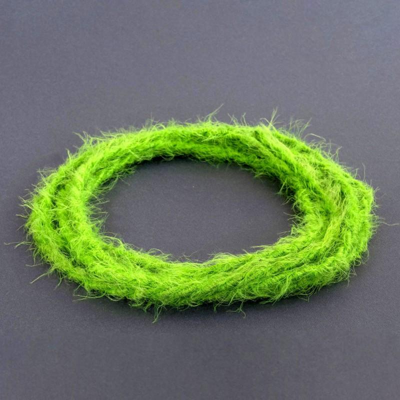 Burlesque stočený textilný elektrický kábel s chlpatým efektom TP06 zelený