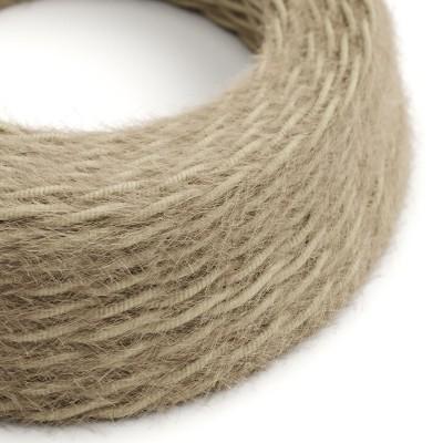 Burlesque stočený textilný elektrický kábel s chlpatým efektom TP13 hnedý