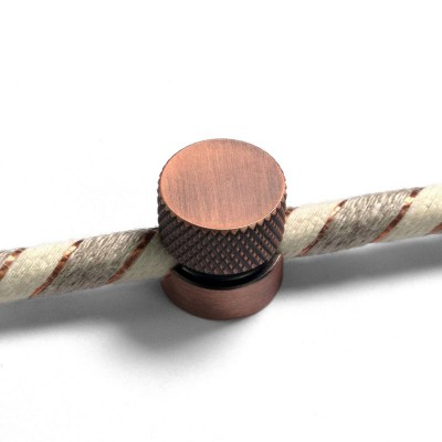 Sarè - Kovová nástenná káblová svorka pre textilné elektrické káble - matná medená