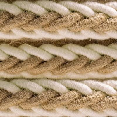 2XL stočený lanový elektrický kábel 2x0,75 - juta a bavlna, priemer 24 mm.