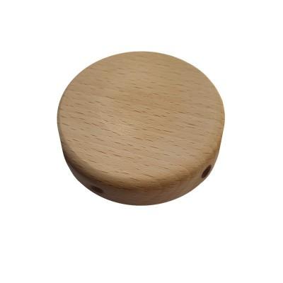 Malá valcová drevená stropná rozeta so štyrmi bočnými otvormi (rozdeľovacia krabička)
