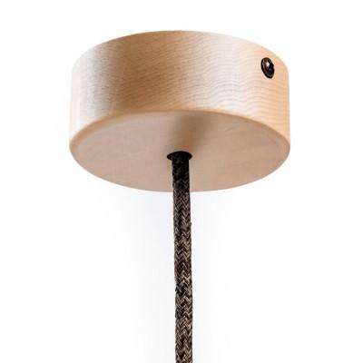 Malá valcová drevená stropná rozeta s jedným stredovým otvorom