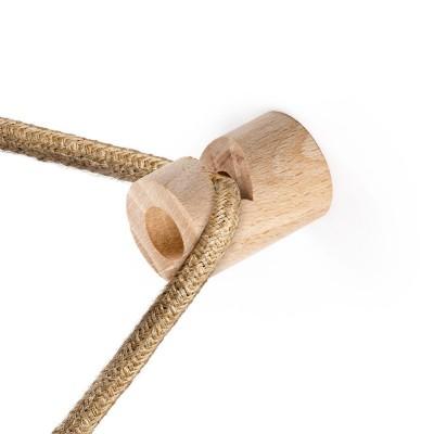 """Decentralizér - drevený stropný alebo nástenný """"V"""" háčik pre textilné elektrické káble."""