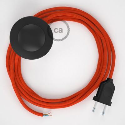 Napájací kábel pre podlahovú lampu, RM15 Oranžový hodvábny 3 m. Vyberte si farbu zástrčky a vypínača.