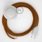 Napájací kábel pre podlahovú lampu, RM22 Whisky hodvábny 3 m. Vyberte si farbu zástrčky a vypínača.