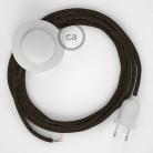 Napájací kábel pre podlahovú lampu, RN04 Hnedý ľanový 3 m. Vyberte si farbu zástrčky a vypínača.