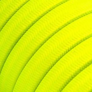 Textilný elektrický kábel pre Svetelné šnúry, potiahnutý hodvábnou textíliou CF10 Fluo Žltá