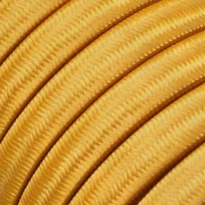 Textilný elektrický kábel pre Svetelné šnúry, potiahnutý hodvábnou textíliou CM05 Zlatá