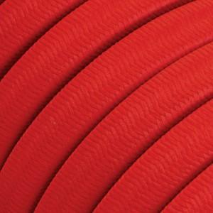 Textilný elektrický kábel pre Svetelné šnúry, potiahnutý hodvábnou textíliou CM09 Červená