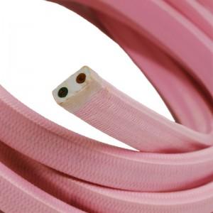 Textilný elektrický kábel pre Svetelné šnúry, potiahnutý hodvábnou textíliou CM16 Ružová