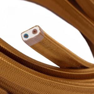 Textilný elektrický kábel pre Svetelné šnúry, potiahnutý hodvábnou textíliou CM22 Whisky