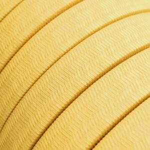 Textilní elektrický kabel pro světelný řetěz, pokrytý umělým hedvábím - CM10 žlutý